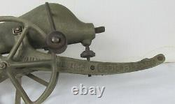 Rare! Vintage Young America Rapid Fire Gun 1907 Pat cast iron toy marble cannon