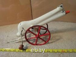Rare! Vintage Young America pre 1907 cast iron toy marble cannon, rapid fire gun