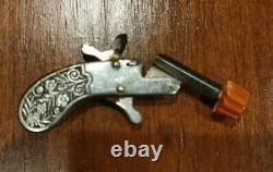 Replica Pistol Derringer Gun Berloque Engraved Austria Watch Charm Keychain