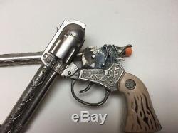 Restless Gun Cap Gun With Stock And Extra Barrel