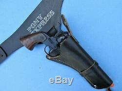 Restored Holster Rig Only For Nichols Fina Pony Express Cap Gun (gun Not Incl)