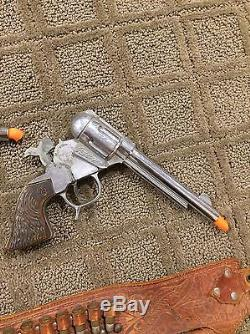 Roy Rogers Holster with Cap Guns and Wood Bullets