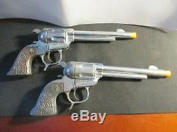 Roy Rogers Toy Cap Gun & Holster Set George Schmidt 1950-60 withDisplay Box &Comic