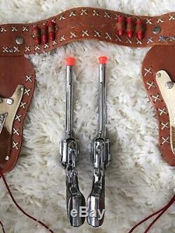 Roy Rogers Toy Cap Gun & Holster Set George Schmidt Co. Cow Hide Holster, Nice