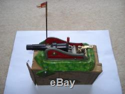 Scarce C1910 Vintage D. R. G. M. Made Tin Plate Battery Cannon/gun & Original Box