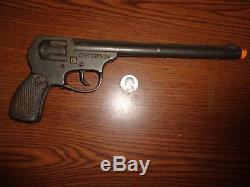 Scarce National The Forty Five 11 Cast Iron Automatic Toy Cap Gun c. 1928