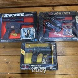 Star Wars Vintage Kenner Han Solo Luke biker scout Laser Pistols Blasters Toy