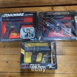 Star Wars Vintage Kenner Han Solo Luke biker scout Laser Pistols Blasters Toy FS
