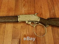 Stunning 1959 Vintage Hubley The Rifleman Tv Show Flip Special Cap Gun Rifle