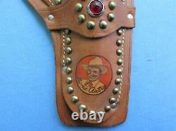 Superb Gene Autry Logo Repro Holster For Kenton Cast Iron Cap Gun Gun Not Incl