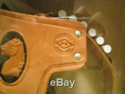 THE RIFLEMAN Western TOY GUN PISTOL HOLSTER SET Vintage RARE Leslie Henry Hubley