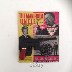 The Man From Uncle Vintage Toy Gun On Original Advertising Card Mint Very Rare