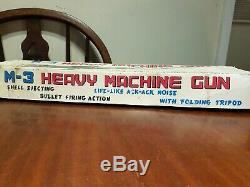 Tin Toy M3 Heavy Machine Gun, Tada Japan 60s B/O Box