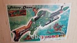 Topper Johnny Seven One Man Army Both Guns, Ammo, Bombs, Instructions & Poster