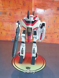 Transformers G1 Jetfire With Armour and Gun Vintage Hasbro 80s Toy