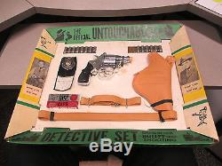 UNTOUCHABLES Robt Stack Eliot Ness DETECTIVE cap gun playset MARX 1962 TV police