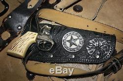 VINTAGE 1950's original child HUBLEY cap gun WESTERN COWBOY OUTFIT