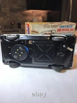 VINTAGE 1960 TIN TOY Car Battery Operated Hwy Patrol T. N. Japan Mystery Turn-Gun