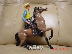 VINTAGE 1960's HARTLAND GIL FAVOR WITH ORIGINAL HAT, HORSE, SADDLE, AND GUN