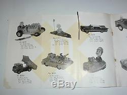 VINTAGE 1960s JAPANESE MECHANICAL TOY DEALER CATALOG! ROBOT/RAY GUN/SPACE PLANE