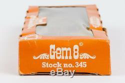 VINTAGE 60's RARE CAP GUN TOY CRESCENT Gem 8 REVOLVER COWBOY 7.5'' METAL ENGLAND