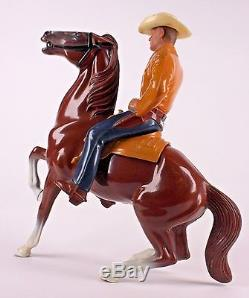 VINTAGE HARTLAND WESTERN COWBOY & HORSE With GUN PLASTIC TOY FIGURINE