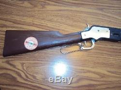 VINTAGE MATTEL SADDLE GUN WINCHESTER RIFLE, with STICKER, VGC