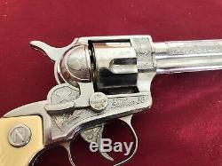 VINTAGE NICHOLS STALLION 38 CAP GUN SIX SHOOTER With BOX #5
