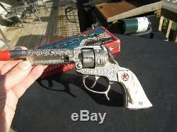 VINTAGE ORIGINAL c1935 THE TEXAN CAP GUN BY HUBLEY NOS MIB BOX NEVER FIRED
