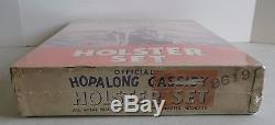 VINTAGE W. M. BOYD HOPALONG CASSIDY CAP GUNS AND HOLSTER SET With ORIGINAL BOX