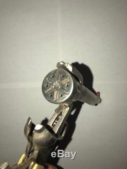 Very Rare Vintage Kilgore Long Tom Six Shooter Cap Gun Unfired With Original Box