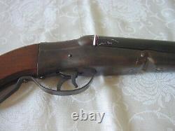 Vintage 1928 Rare AH Fox Gun Co. TOY Double Barrel Cap Cork Shotgun