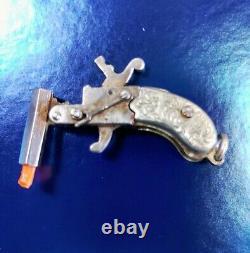 Vintage 1930's Maus German Flintlock Cap Gun Key chain Pendant Pistol