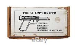 Vintage 1937 Sharpshooter Bulls Eye Bullseye Mfg Co Silver Metal Pistol Gun Wbox