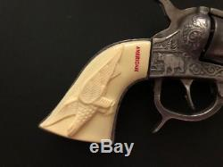 Vintage 1940 Rare Kilgore American Eagle Cast Iron Cap Gun