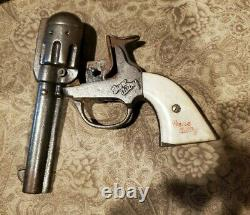 Vintage 1940's KENTON Gene Autry Toy Cap Gun with Keyston Bros Belt and Bullets