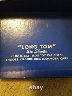 Vintage 1940s Kilgore Long Tom Cast Iron Cap Gun