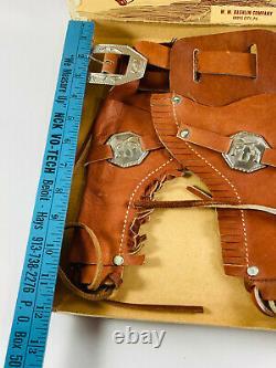 Vintage 1950's Bashlin Wild Bill Western Cowboy Holster Set with Box cap gun