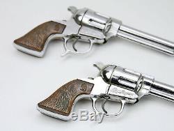 Vintage 1950's Geo. Schmidt Roy Rogers Western Cowboy Leather Holster & Cap Guns