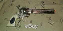 Vintage 1950's Halco Marshall 6-7 shot cap gun. Very hard to find C-8.5 nice