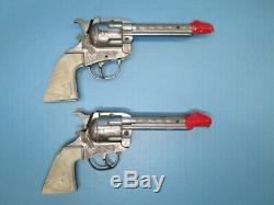 Vintage 1950's Kilgore Roy Rogers cap gun set with Roy Rogers leather holster