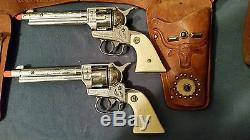 Vintage 1950's Original Nichols Stallion 38 Cap Gun Holster Set