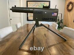 Vintage 1950s Custom USMC Tru Matic Toy Machine Gun with Tripod Working