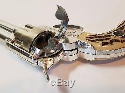 Vintage 1950s Fanner Shootin Shell Mattel Cap Gun Toy Metal Cowboy Western Toy