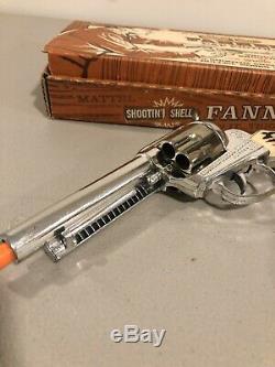 Vintage 1950s Mattel Shootin Shell Fanner TOY Cap Gun Set with Original Box