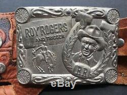 Vintage 1950s Roy Rogers Cap Gun Double Holster Orig Wood Bullets Rare! Schmidt