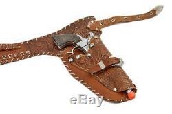 Vintage 1952 G. Schmidt Western Cowboy Roy Rogers Cap Gun Pistols & Holster set