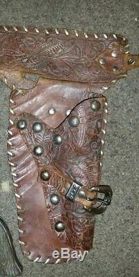 Vintage 1952 G. Schmidt Western Cowboy Roy Rogers Holster & Cap Guns