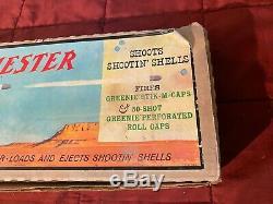Vintage 1960s Mattel Winchester Rifle Toy Cap Gun WITH ORIGINAL BOX