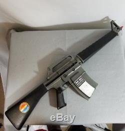 Vintage 1966 MATTEL M-16 MARAUDER DIVISION TOY MACHINE GUN // WORKS // LOUD